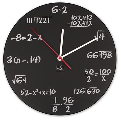 Pop Quiz Math Clock