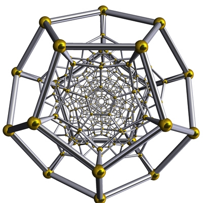 Diagrama de Schlegel del 1-esqueleto del 120-cell