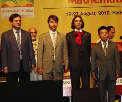 Los galardonados con la Medalla Fields 2010