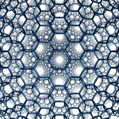 Hyperbolic 3d hexagonal tiling