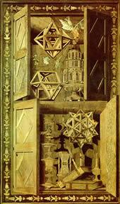 Intarsia (mosaico realizado de piezas de madera incrustadas) (1520)