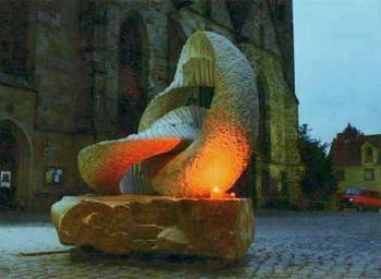 Escultura realizada en el ISAMA99 (San Sebastián)