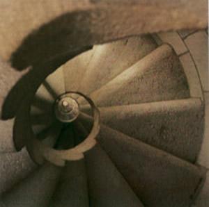 Escalera de caracol del Templo de la Sagrada Familia (Gaudí)