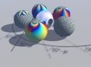 Complex plane with Riemann spheres