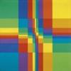 Nueve filas sistemáticas de color con compactación horizontal y vertical (1955)